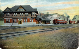 BIG FOUR STATION @ Wabash Postcard