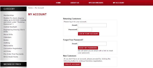 2. Log In My Account-Reset My Password-Create Account