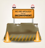 inconvenient-sign-concrete-roadblock-vector-design-65003963